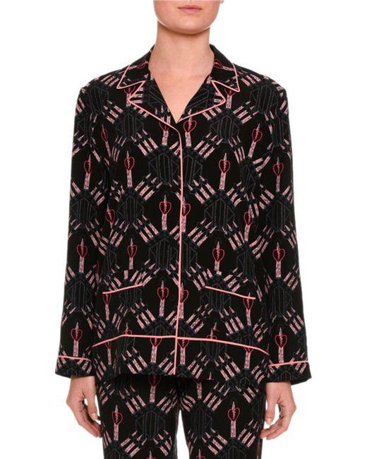 Valentino   Black Love Blades Pyjama Trousers   Lyst