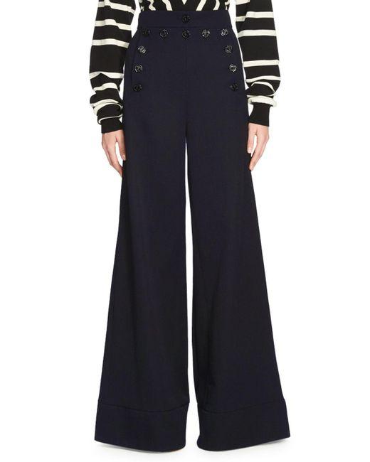 Chloé | Blue Wide-leg High-waist Pants | Lyst