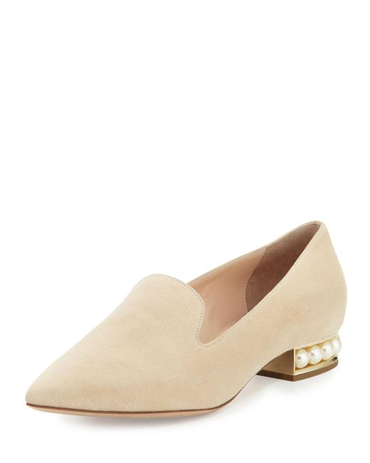 Nicholas Kirkwood | Natural Casati Pearly Suede Loafer | Lyst