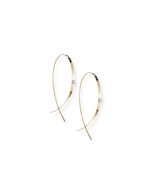 Lana Jewelry   Metallic Small Flat Diamond Hoop Earrings   Lyst