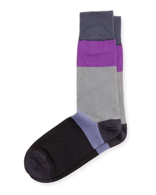 Paul Smith | Gray Capri Colorblock Stripe Socks for Men | Lyst