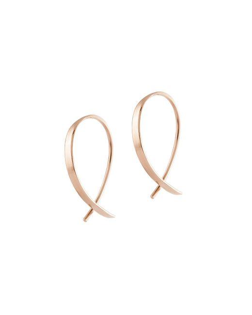 Lana Jewelry | Metallic Girls' Mini Upside Down Hoop Earrings | Lyst