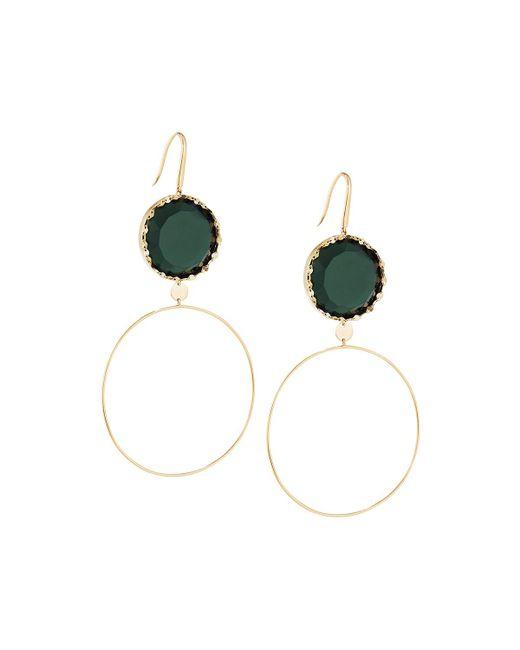Lana Jewelry | Green 14k Midnight Dangle Hoop Earrings | Lyst
