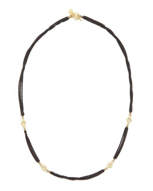 Armenta   Black Multi Chain Gld Dia Necklace   Lyst