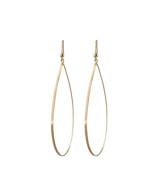 Lana Jewelry   Metallic Gold Flat Teardrop Earrings   Lyst