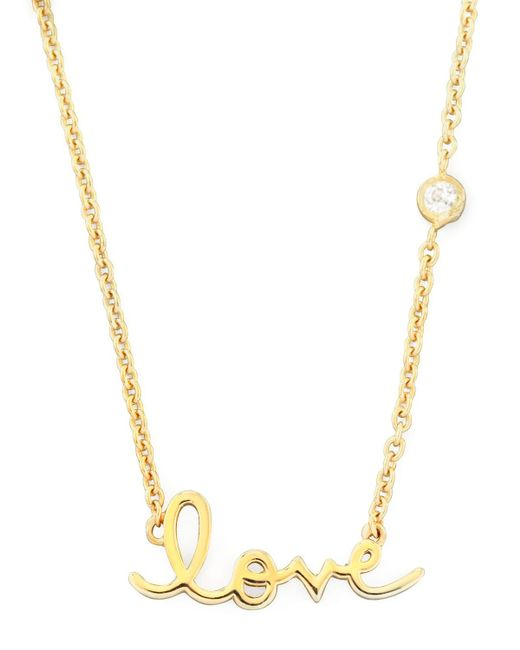 Shy By Sydney Evan | Yellow Love Pendant Bezel Diamond Necklace | Lyst