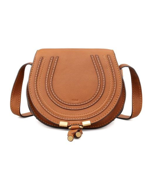 Chloé | Brown Marcie Small Leather Cross-Body Bag | Lyst
