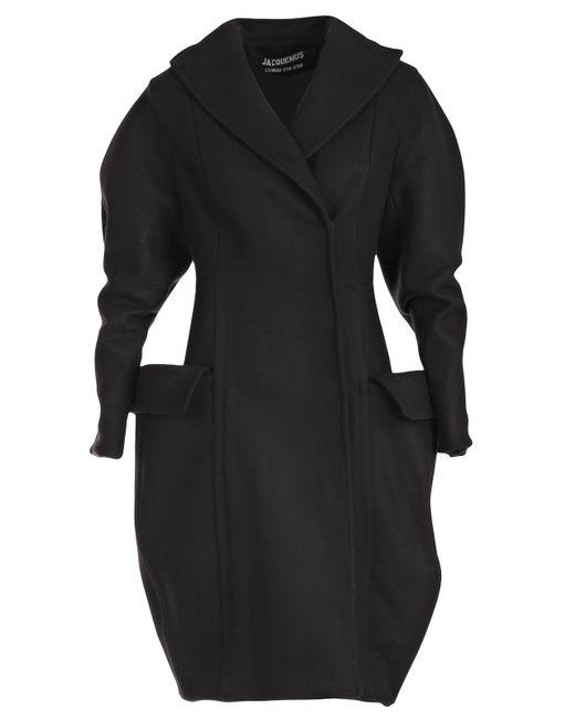 Jacquemus - Black Le Manteau Grandes Poches Cappotto M/l - Lyst