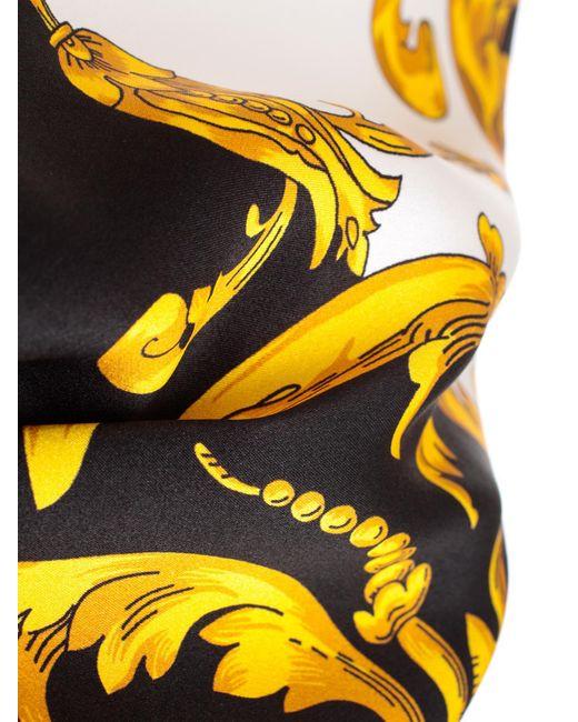 7a460178 ... P.A.R.O.S.H. - Yellow Shirt Silk Printed Baroque - Lyst