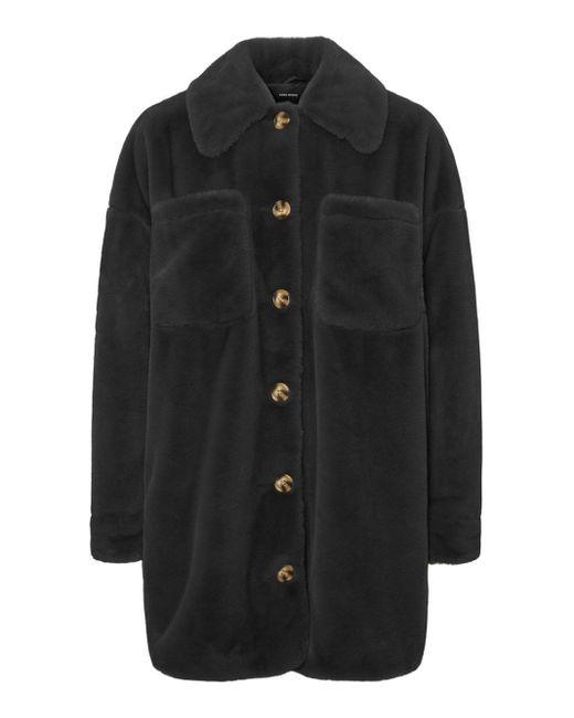 Vero Moda Faux Fur Shirt Jas in het Black