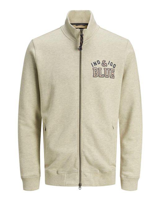 Jack & Jones Hoge Kraag Rits Sweatshirt in het Gray voor heren