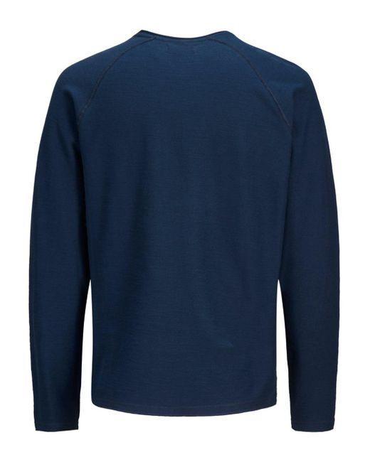 Jack & Jones Crew-neck Sweatshirt in het Blue voor heren