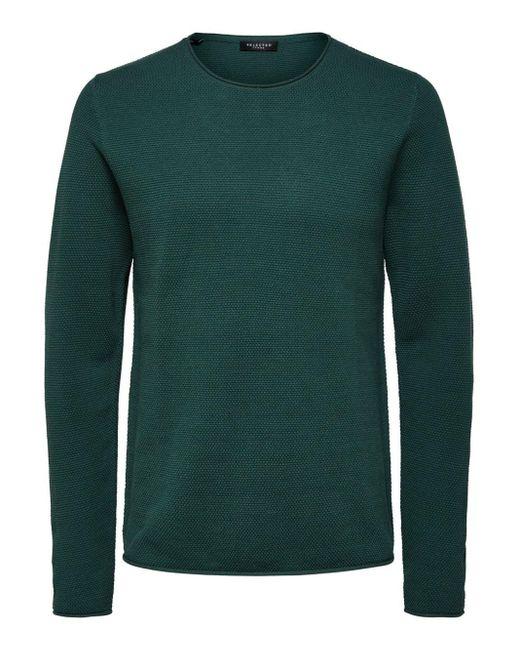 SELECTED Ronde Hals - Sweater in het Green voor heren