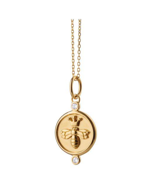 """Monica Rich Kosann 18k Yellow Gold & Diamond """"queen Bee"""" Charm"""