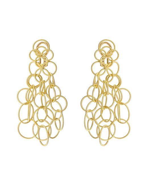 """Buccellati - 18k Yellow Gold """"hawaii"""" Chandelier Earrings - Lyst"""
