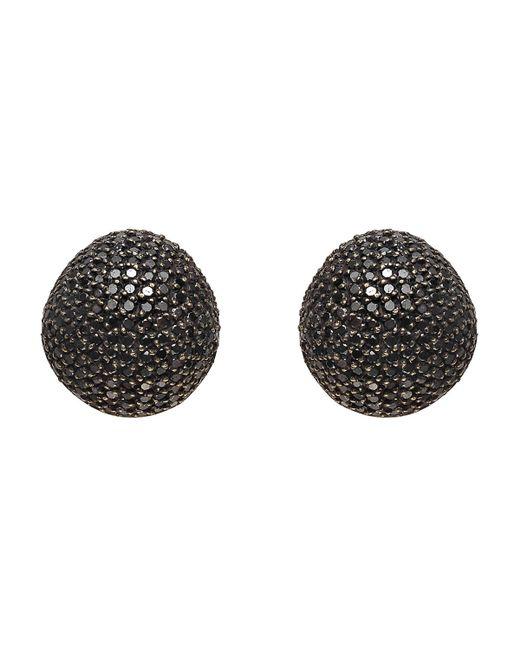 Yossi Harari Black Diamond Dome Earrings
