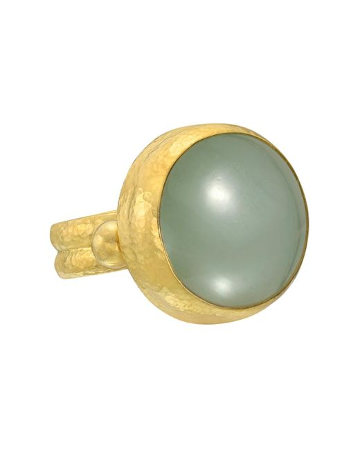 Gurhan - 24k Yellow Gold & Green Aquamarine Ring - Lyst