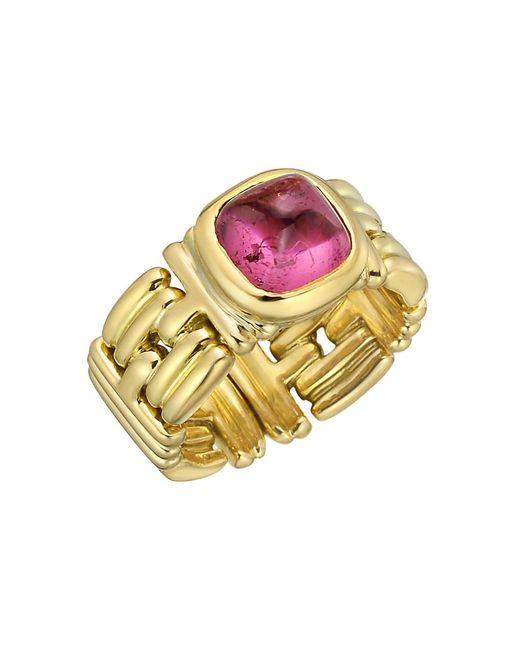 BVLGARI - 18k Yellow Gold & Pink Tourmaline Ring - Lyst