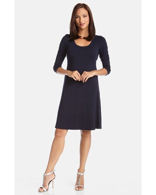 Karen Kane | Blue A-line Jersey Dress | Lyst