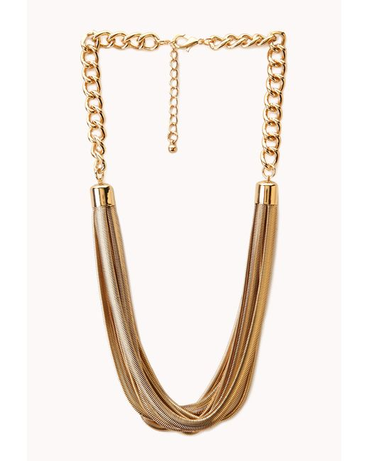 Forever 21 | Metallic Striking Multi-layered Necklace | Lyst