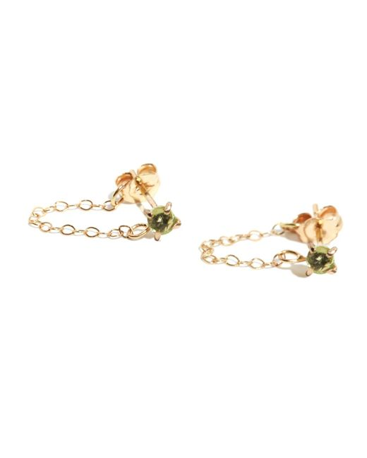 Melissa Joy Manning | Metallic Peridot Post Earrings With Chain Wrap | Lyst