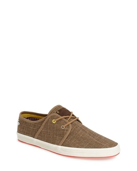 Fish n chips spam 2 canvas sneakers in brown for men for Fish and chips shoes