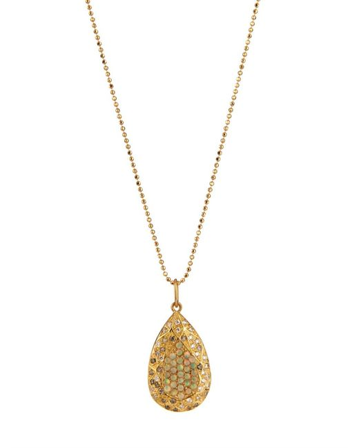 Carolina Bucci | Metallic Sapphire & Rose-Gold Necklace | Lyst