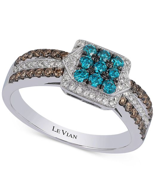 Le Vian | Metallic Swiss Blue Topaz, Smoky Quartz, White Topaz And 14k White Gold Ring | Lyst