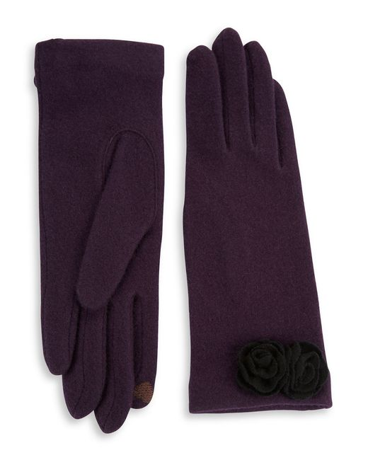 Portolano | Purple Open Sesame Rosette Cashmere-blend Gloves | Lyst