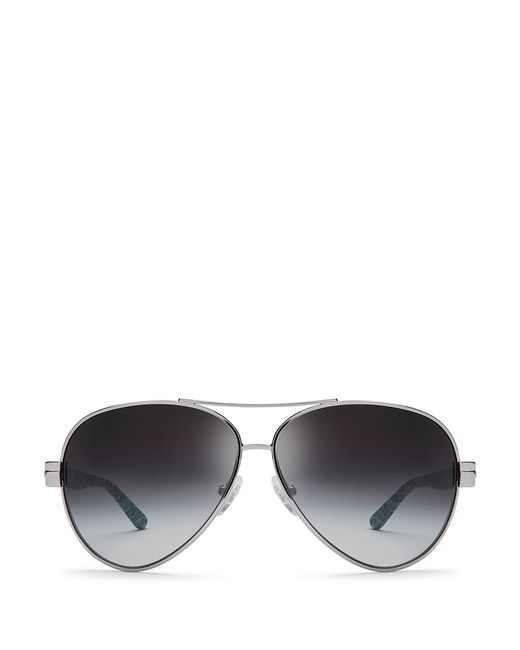 Tory Burch | Metallic Printed Aviator Sunglasses | Lyst