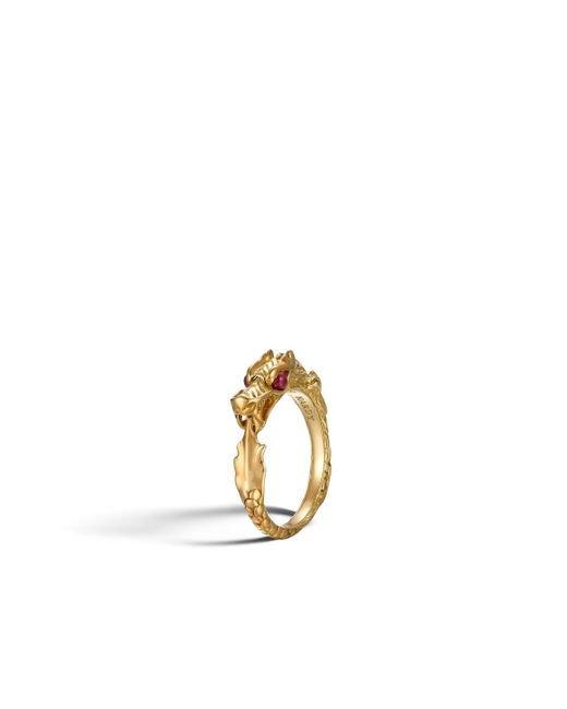 John Hardy   Red Naga Ring   Lyst