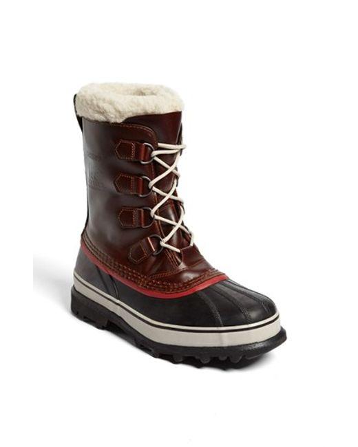 Sorel | Black 'caribou' Snow Boot for Men | Lyst