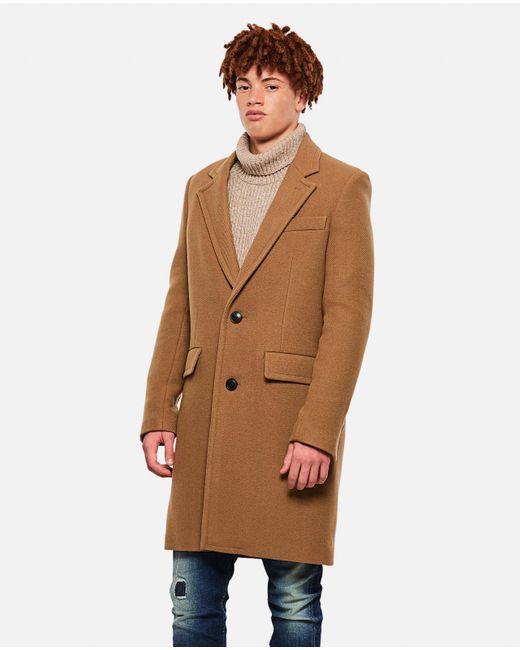AMI Natural Wool Coat for men
