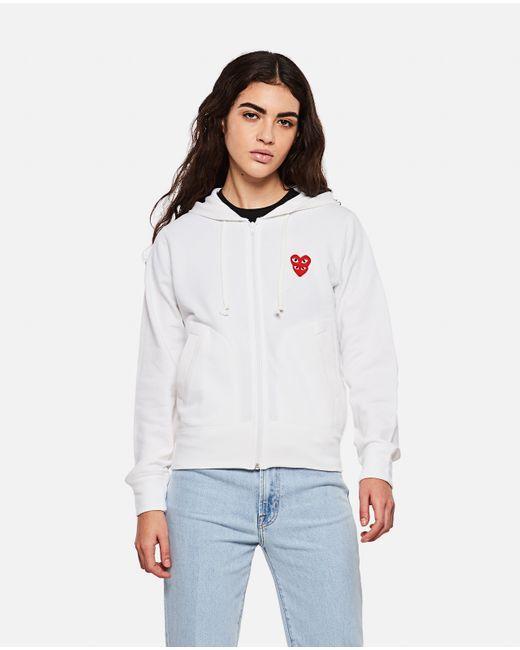 COMME DES GARÇONS PLAY White Logo Sweatshirt