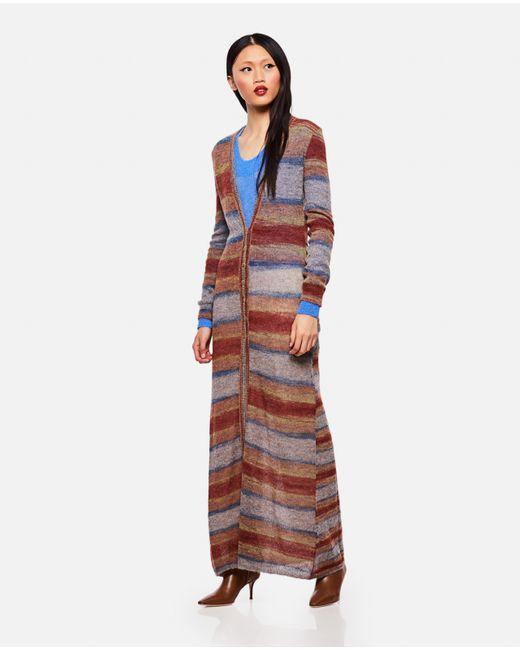 Jacquemus Gray Multicolor Striped Cardigan