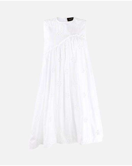 Vestito corto in cotone di Simone Rocha in White