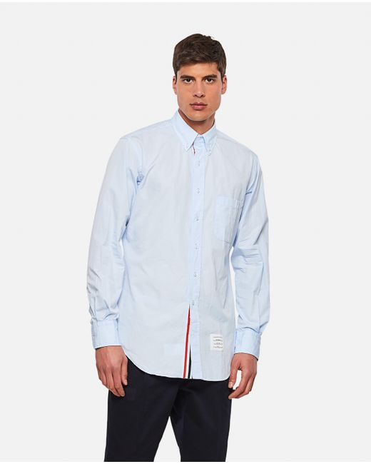 Thom Browne Blue Cotton Shirt for men