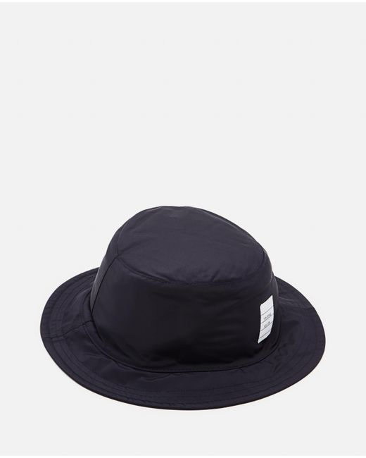 Thom Browne Blue Nylon Bucket Hat for men