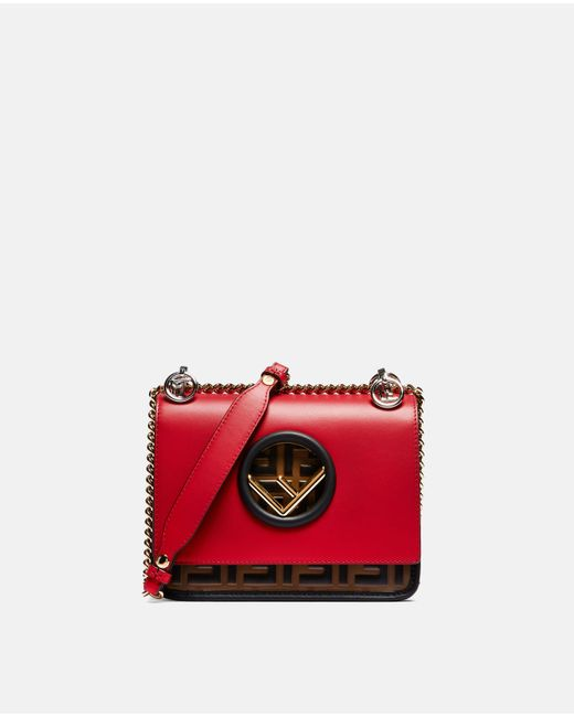 Fendi Red Small Kan I F Bag Lyst