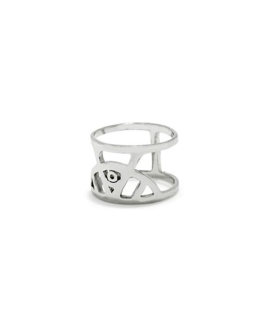 Bing Bang - Metallic Illuminated Eye Ring - Lyst