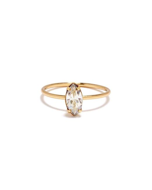 Bing Bang | Yellow Tiny Marquis Ring | Lyst