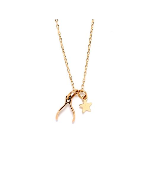 Bing Bang | Metallic Wishbone Necklace | Lyst
