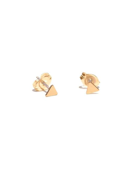 Bing Bang - Yellow Tiny Triangle Studs - Lyst