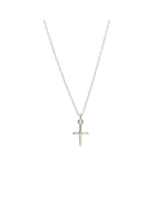 Bing Bang - Metallic Skinny Cross Necklace - Lyst