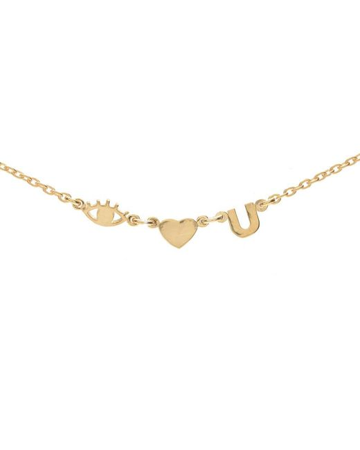 Bing Bang | Metallic Eye Heart U Necklace | Lyst