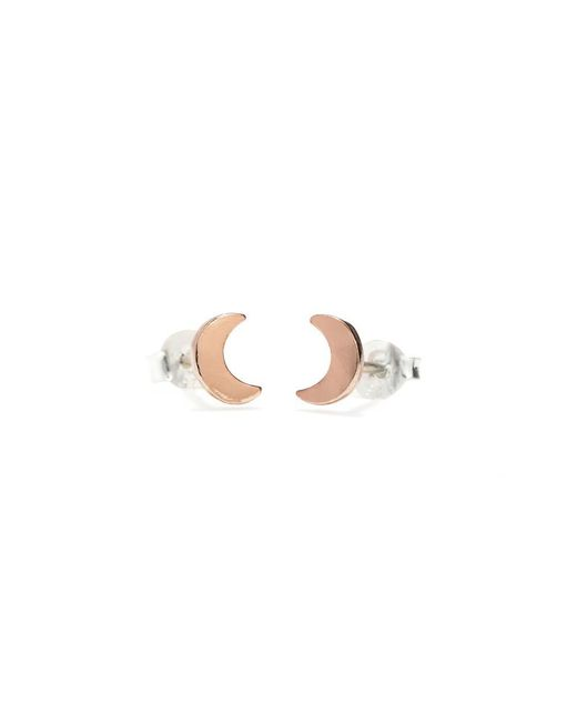 Bing Bang - Pink Little Moon Studs - Lyst