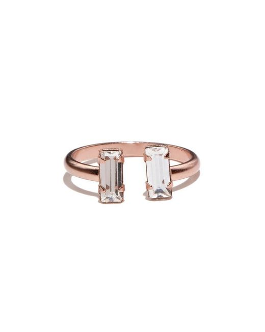 Bing Bang | Pink Double Baguette Ring | Lyst