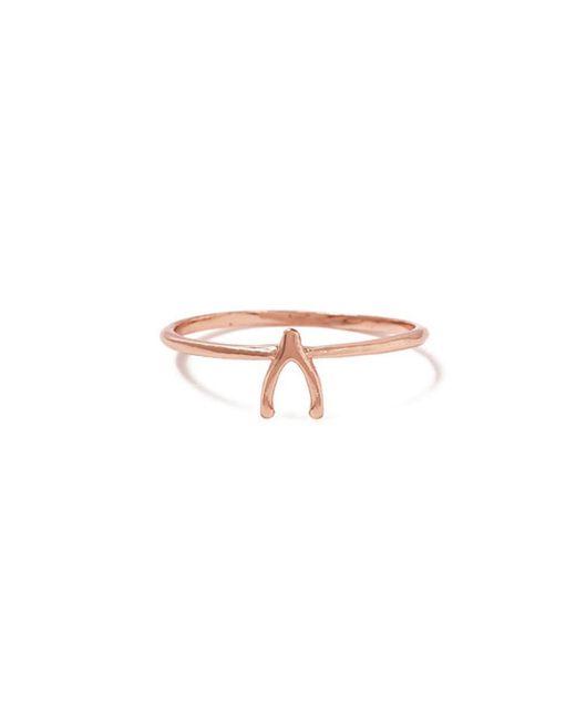 Bing Bang Pink Wishbone Ring