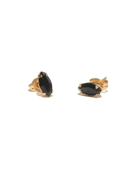 Bing Bang - Yellow Tiny Marquis Studs - Lyst