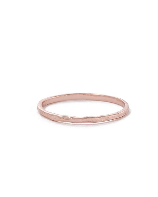Bing Bang | Pink Delicate Hammered Band | Lyst